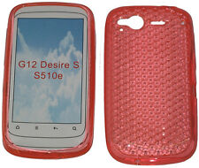 TPU Pattern Soft Gel Case Protector Cover Orange For HTC Desire S G12 S510e