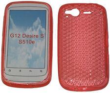Patrón de TPU Gel suave cubierta caso Protector Naranja para HTC Desire S G12 S510e