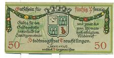 OLD GERMANY EMERGENCY PPAER MONEY - NOTGELD Treuchtlingen 1918 50 Pf