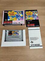 Snes Super Nintendo Puzzle Bobble Pal Complete CIB NOE New VGC Mint - FREE P&P