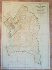 Maryland Map - Prince George'S Co. & Dc/Topography & Election Districts - 1927