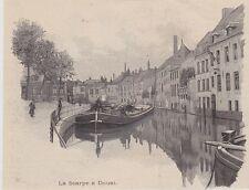 1895  --  PENICHE  LA SCARPE A DOUAI    3J011