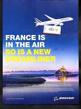 "AIR FRANCE ""FRANCE IS IN THE AIR"" BOEING 787-900 DREAMLINER JOINS THE FLEET AD"