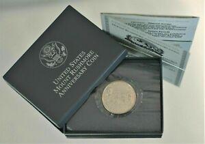 1991 US Mount Rushmore Anniversary Half Dollar UNC Coin w/Box and COA