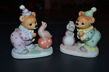 "Very Cute Set of two Homco 4 1/2"" tall and 4"" wide Porcelain Bears"