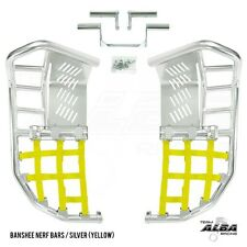 Yamaha Banshee YFZ 350  Nerf Bars  Pro Peg  Alba Racing  Silver/Yellow 207-T7-SY