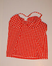 J.Crew Women's Grid Dot Ruched Underwire Tankini Top #A1567 Red/White 4 $68