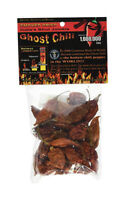 Smoked and Dried Bhut Jolokia Ghost Chili Pepper Pods .5 Ounce