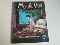 Monster Night Signed by Author Richard Peck Children's Book Vintage