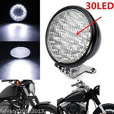 "1pc 35w Black Universal Motorcycle 5"" 30 Led Round Headlight High Low Beam Light"