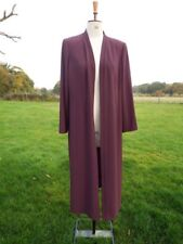 Flattering PLATINUM Long Plum Over Jacket / Coat Plus Size 18 Worn Once