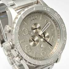New NIXON Watch Mens 51-30 CHRONO All Raw Steel  A083-1033 A0831033