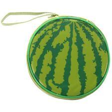 Green Watermelon Pattern 24 Capacity Cd Dvd Round Wallet Case Holder H5C4