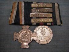 Ordensspange Preußen Erinnerungskreuz 1866 + KDM 1870/71 + 4 Gefechtsspangen