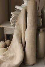 HEMP fabric antique linen 4.5yds PURE HEMP 18th century European homespun fabric