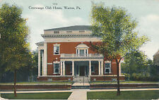 1910 Conewango Cub House, Warren, PA Hand Tinted Postcard