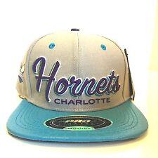 Pro Standard Men's NBA Adjustable Leather Visor Baseball Hat Charlotte Hornets