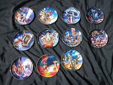 Myles Pinkney Dragon Series Plates Royal Doulton Franklin Mint 11 of them