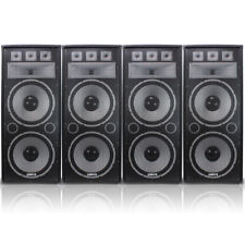 "4x Vonyx Dual 15"" TX215 Professional DJ PA Party Sound System Speakers 3000W"