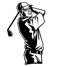 Golfer Aufkleber Golf Sport Sticker Golfspieler m413