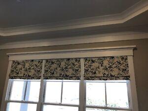 Window valance - linen