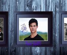 Taylor Lautner Jacob Twilight SIGNED FRAMED AUTOGRAPHED 10x8 REPRO PHOTO PRINT