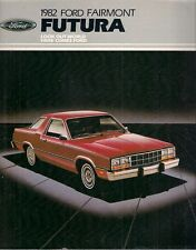 Ford Fairmont Futura 1982 USA Market Sales Brochure 2-dr 4-dr Sedan Coupe