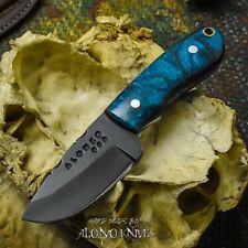 ALONZO KNIVES USA CUSTOM HANDMADE TACTICAL NECK 1095  KNIFE CORELON HANDLE 17208