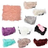 1X(Baby Newborn Faux Fur Photography Photo Props Blanket Basket Stuffer RugY8I8)