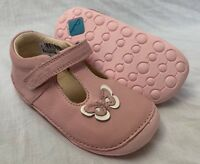 BNIB Clarks Girl Little Wow Baby Pink Leather Cruising First Shoes E/F/G/H