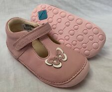 e6e2ed6857b3d BNIB Clarks Girl Little Wow Baby Pink Leather Cruising First Shoes E F G