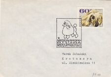 0303 Theme Chien enveloppe cachet Expo internationale a POZNAM le 8 aout 1972