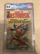 TALES TO ASTONISH #57 CGC 8.0 Early Spider-Man app!