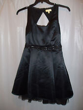 New~NWT~PRINCESS VERA WANG Open Back Beaded Tulle Prom Party Dress~Black~Size 3