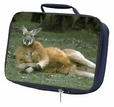 More details for cheeky kangaroo navy insulated school lunch box bag, ak-1lbn