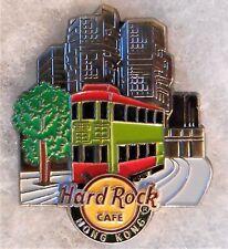 HARD ROCK CAFE HONG KONG 3D CITY SKYLINE DOUBLE DECKER TRAM PIN # 101510