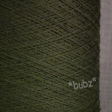 Pure Merino Wool Yarn 2/30s Loden Verde 500g Cono laceweight 1 capas profundas de tejer