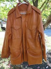 Men's Vintage Overland Sheepskin leather Company barn Jacket winter coat sz 46