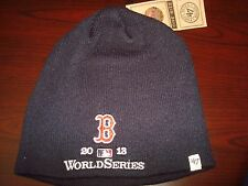 BOSTON RED SOX  WORLD SERIES 2013 TOBOGGAN KNIT RETRO BEANIE SKULL HAT CAP