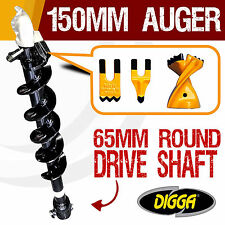 150mm Auger Drill Bit Post Hole Tungsten 12 Inch Bits Earth Augers Drilling