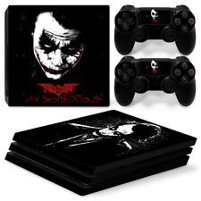 Sony PS4 Pro Console and Controller Skins / Decal -- Batman Joker Serious(P-064)