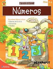 64pg Brighter Child NUMEROS / NUMBERS Spanish ONLY WorkBook Age 4-6 Grade PreK+