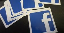 FACEBOOK 9X9cm printed vinyl decal sticker car glass UV proof WATER proof