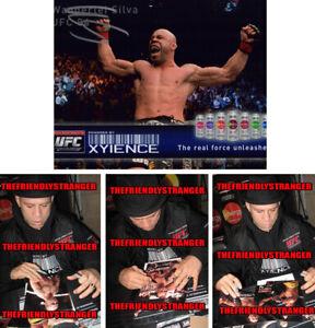 "WANDERLEI SILVA signed Autographed ""UFC"" 8X10 PHOTO a PROOF - The Axe Murder COA"