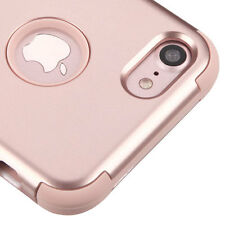 for iPhone 7 - Rose Gold Shockproof Armor Hybrid Rugged Rubber Hard Case Cover
