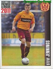 365 s. jennings england motherwell. fc sticker scottish premier league 2011 panini
