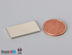 "1""x1/2""x1/16""T 25.x12.7x1.5mm Rare Earth Neodymium Flat thin Block Magnet N40/52"