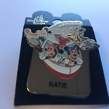 WDW - Monorail KATIE Name Pin FAB 4 Mickey Minnie Goofy Donald Disney Pin 15004