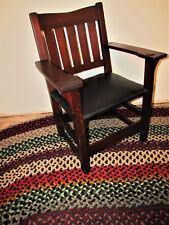 Superb Gustav Stickley V Back Arm Chair  w4865