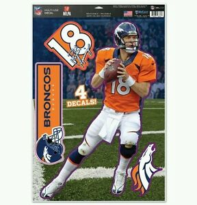 PEYTON MANNING DENVER BRONCOS  Multi-Use Decals 11x17 Just LIKE a Fathead!